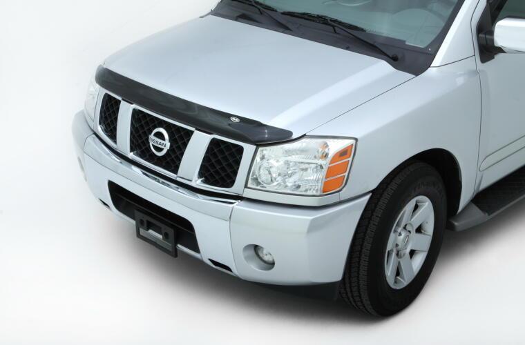 AVS 25402 Bugflector Smoke Hood Protector Shield For 04-16 Nissan Titan