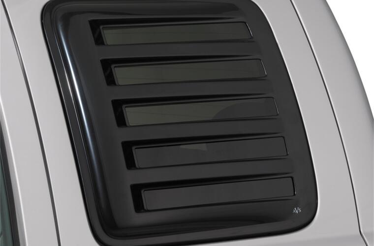 AVS 83410 Aeroshade Side Window Covers 2pc - Black for 97-03 Ford F-150