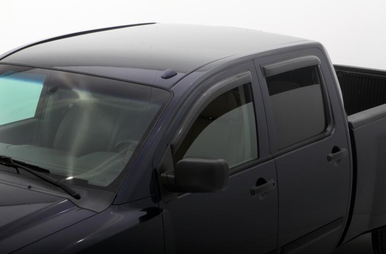 AVS 94858 Ventvisor Outside Mount Window for 04-15 fits Nissan Titan Crew Cab
