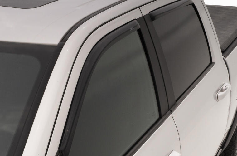 Dark Grey Outside Mount JDM Vent Visors Deflector 4pcs For Nissan Sentra 13-15